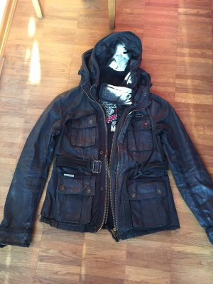 Superdry Waxed Jacket dark grey