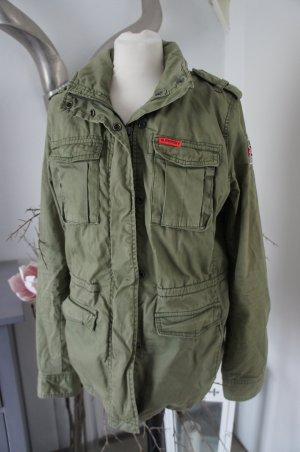 Superdry Chaqueta militar gris verdoso
