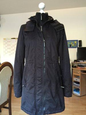 Superdry Abrigo con capucha negro