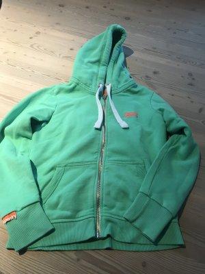 Superdry Maglione con cappuccio menta-arancio neon