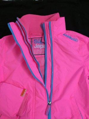 Superdry Jacke in Neon Pink-Gr. M