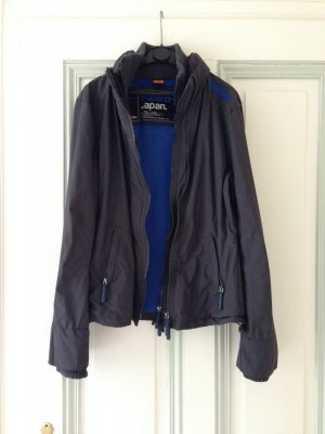 "Superdry Jacke ""The windcheater"" Anthrazit/Blau"