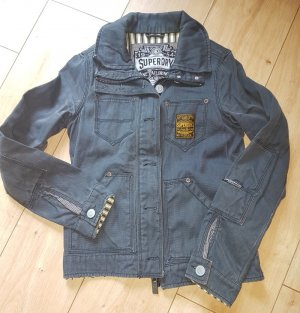 SUPERDRY Jeans Jacke Blue Maritim Sommer Vintage XS 34 / 36