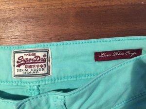 Superdry Jeans W 26 L 32 pastell grün XS