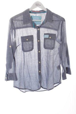Superdry Jeansbluse blassblau-türkis schlichter Stil