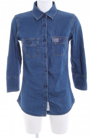Superdry Denim Blouse blue casual look