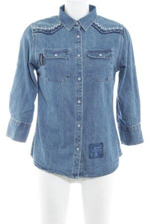 Superdry Spijkershirt blauw country stijl