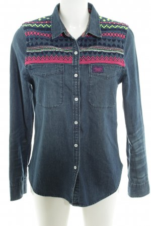 Superdry Jeanshemd Streifenmuster Casual-Look