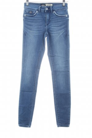 Superdry Jeggings blau Jeans-Optik
