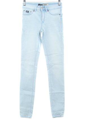 Superdry Jeggings himmelblau-kornblumenblau Jeans-Optik