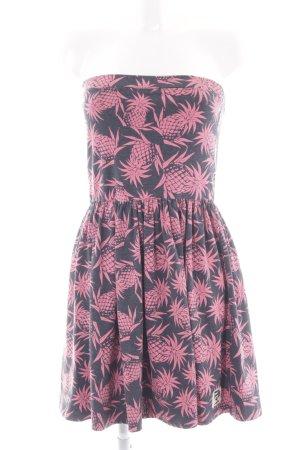 Superdry Jerseykleid anthrazit-pink Allover-Druck Beach-Look