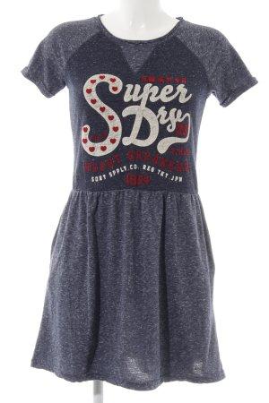 Superdry Jerseykleid dunkelblau-graublau meliert sportlicher Stil