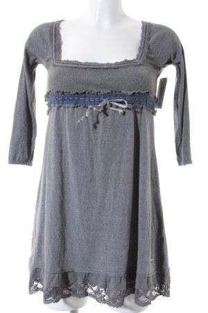 Superdry Jerseykleid grau-stahlblau Romantik-Look