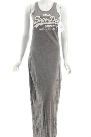 Superdry Jerseykleid grau-weiß meliert Urban-Look