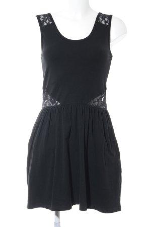 Superdry Jerseykleid schwarz Romantik-Look