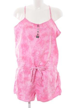 Superdry Tuta rosa-rosa motivo batik stile spiaggia
