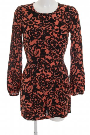 Superdry Jumpsuit schwarz-orange florales Muster Street-Fashion-Look
