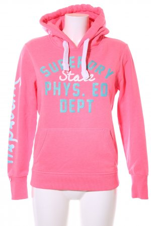 Superdry Hooded Sweater printed lettering casual look