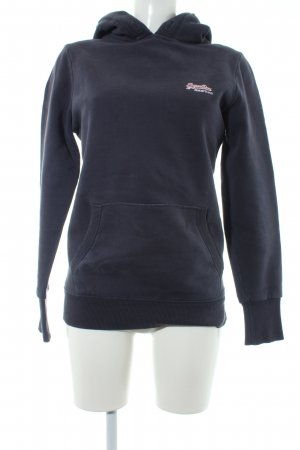 Superdry Capuchon sweater donkergrijs-leigrijs casual uitstraling