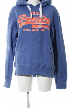 Superdry Hooded Sweater blue-red flecked casual look