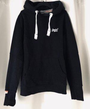 Superdry Jersey con capucha negro-blanco