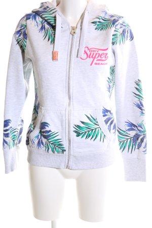 Superdry Kapuzensweatshirt Blumenmuster Casual-Look
