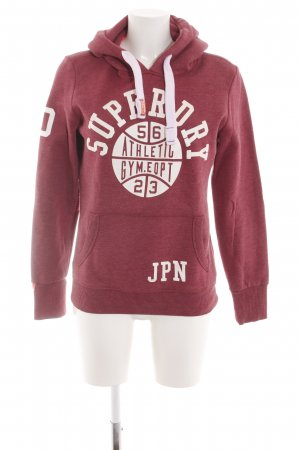 Superdry Hooded Sweatshirt red-white flecked casual look