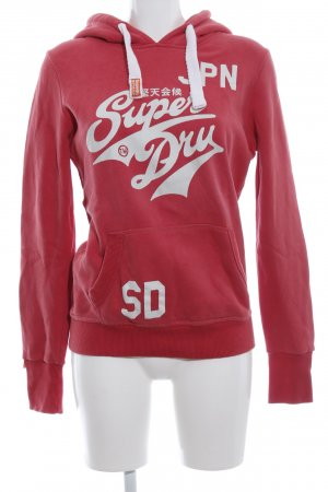 Superdry Hooded Sweatshirt red-white casual look