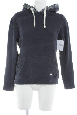 Superdry Kapuzensweatshirt dunkelblau College-Look