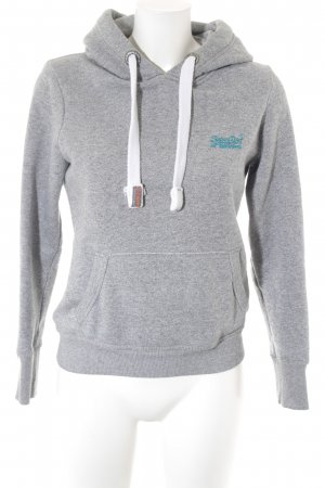 Superdry Kapuzensweatshirt grau meliert Casual-Look