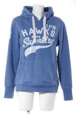 Superdry Kapuzensweatshirt kornblumenblau-hellblau Casual-Look