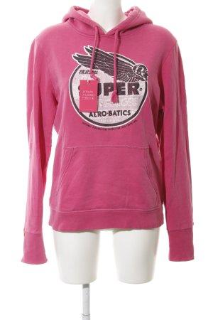 Superdry Kapuzensweatshirt pink platzierter Druck Casual-Look