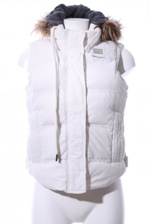 Superdry Hooded Vest white quilting pattern casual look