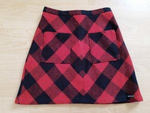 Superdry Mini rok zwart-donkerrood Wol