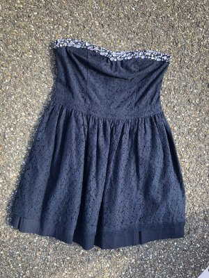 Superdry Kleid blau Glitzersteine L