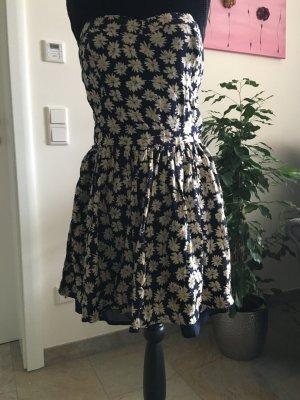 Superdry Kleid dunkelblau mit Blumen Muster Größe S/M