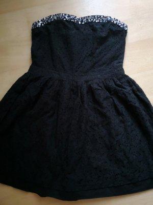 Superdry Kleid Gr. L NEU! schwarz blau Steine Lase Spitze