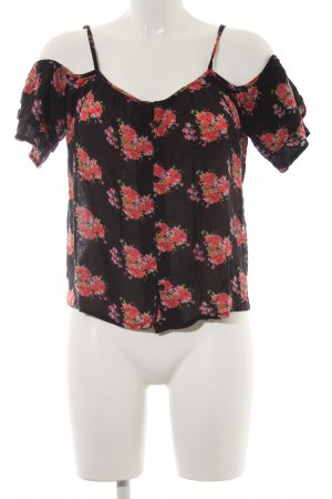 Superdry Kurzarm-Bluse florales Muster Casual-Look