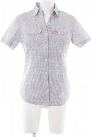 Superdry Short Sleeve Shirt white check pattern casual look