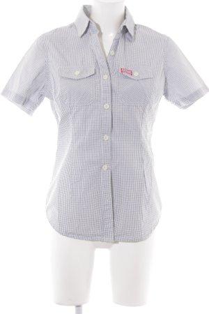 Superdry Shirt met korte mouwen wit geruite print casual uitstraling