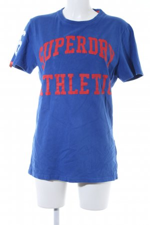Superdry Longshirt blau-hellrot Casual-Look