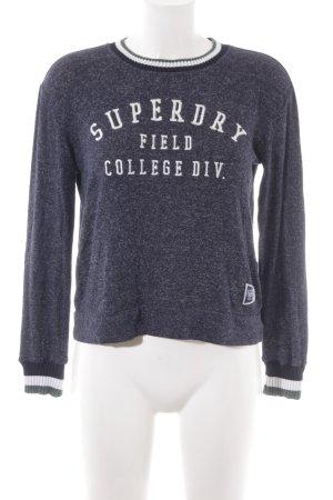 Superdry Longsleeve dunkelblau College-Look