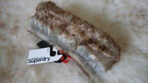 Superdry Lurex Fur Herder Stirnband Ice Meliert *** NEU ***