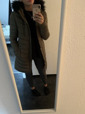 Superdry Hooded Coat khaki