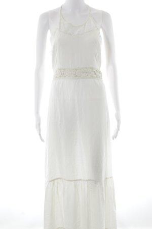 Superdry Robe longue blanc cassé Look de plage