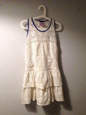 SUPERDRY Minikleid Spitzen Kleid romantisch Gr M L