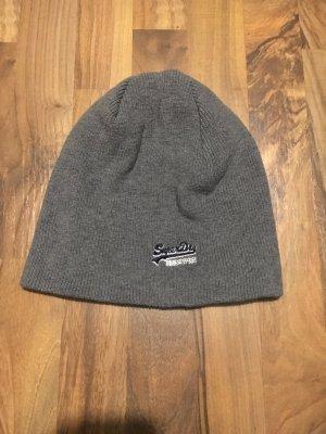 Superdry Chapeau en tricot gris