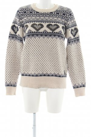Superdry Norwegian Sweater natural white-blue casual look