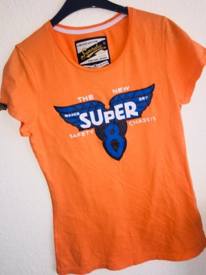 Superdry orange T-Shirt Sweatshirt neu Beu Gr.L