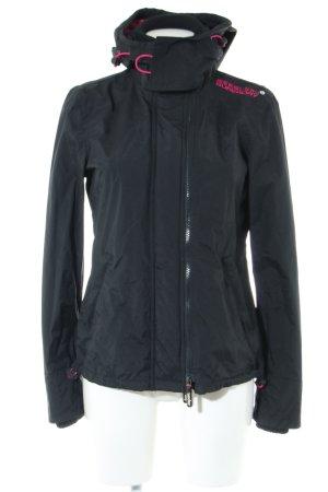 Superdry Outdoor Jacket black-pink printed lettering casual look